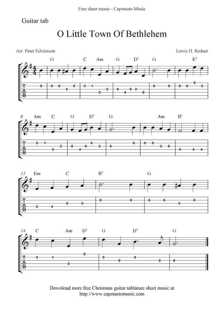 On this site you can download free printable sheet music scores and guitar tablature!