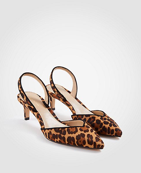 387e9bf13f Ann Taylor Elora Leopard Print Slingback Pumps | shoe shoes shoes ...