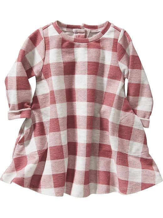 Gingham Sweatshirt  Dresses for Baby