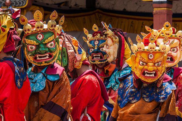 During Paro Tsechu festival, Bhutan. by David Ducoin, via Flickr