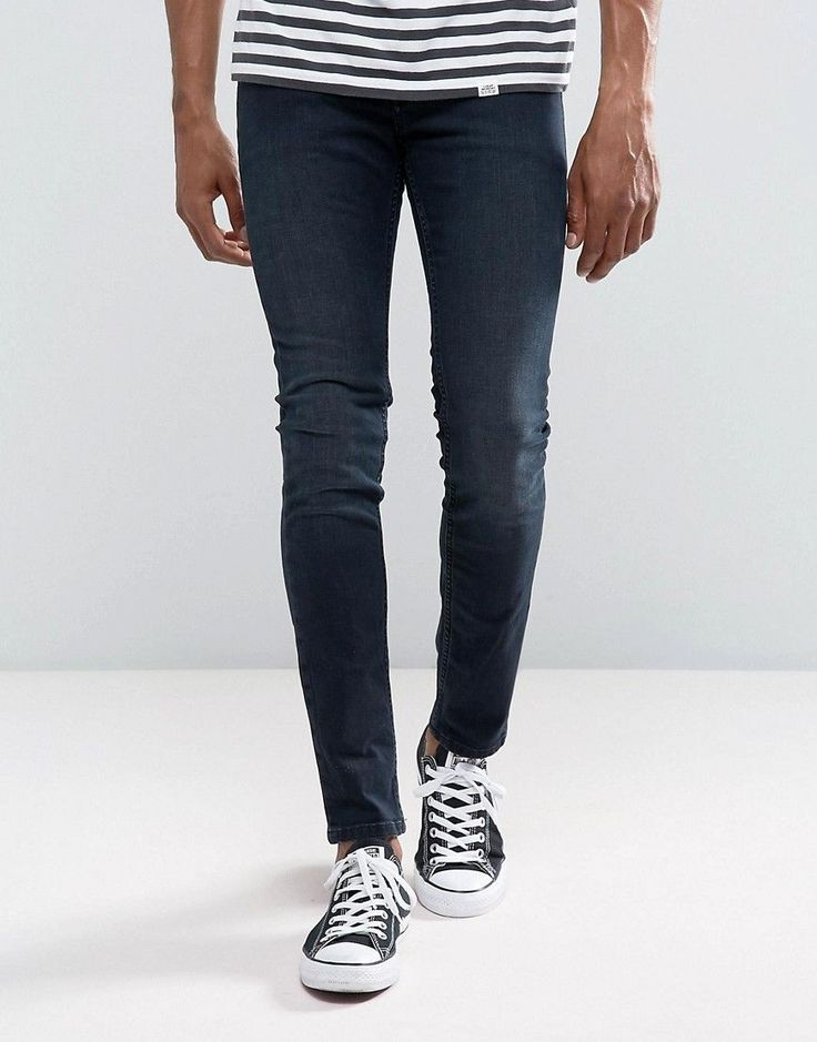 Cheap Monday Tight Skinny Jeans Blue Listed - Blue