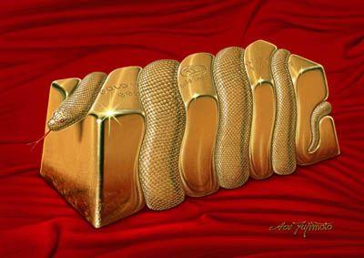 2012年「金運招来 Gold Ingot」A4 デジタル制作