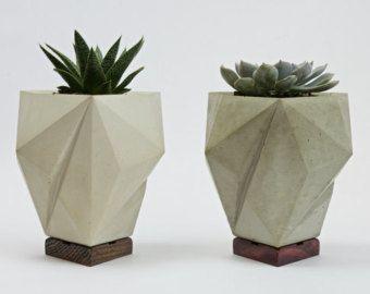 Concrete Planter, Faceted Jessen's Orthogonal Icosahedron