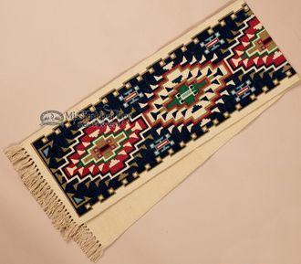 Southwestern Textured Table Runner 13x72  Navajo Blue (hirun789)