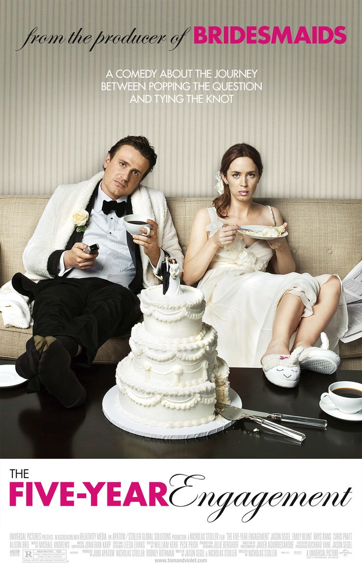 The Five-Year Engagement (2012) USA Universal / Relativity Media. Prod: Judd Apatow. Jason Segel, Emily Blunt, Chris Pratt, Alison Brie, David Paymer. 5/8/15