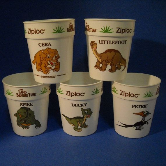 Land Before Time Cup Set/ Vintage Dinosaur by SignsFromTheHeart, $19.99