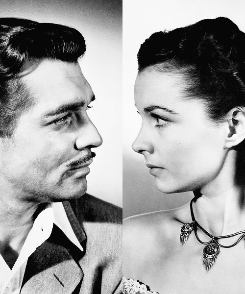Scarlett O'Hara (Vivien Leigh) Rhett Butler (Clark Gable) in Gone With The Wind