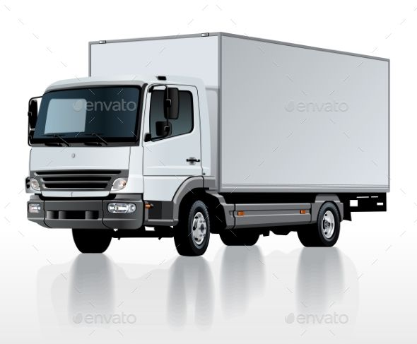 Vector Delivery Cargo Truck Template Isolated Food Logo Design