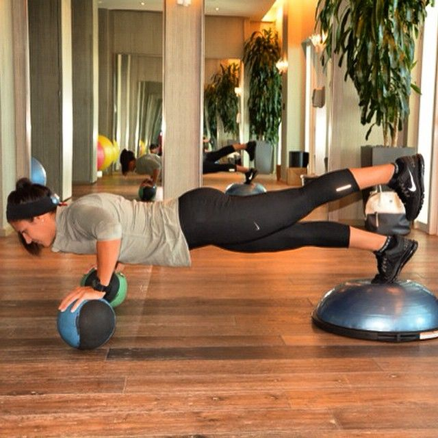 Plank Using Fit Ball And Bosu Ball: 477 Best Exercise With BOSU Images On Pinterest