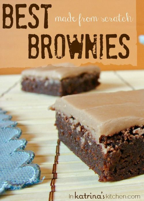 Best Made From Scratch Brownies Recipe- consistent results every time using simple pantry ingredients.