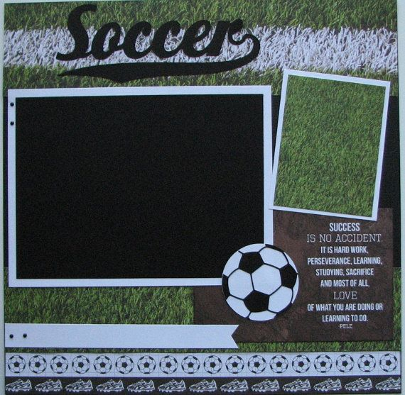 Soccer..TWO completed 12x12 Premade Scrapbook by thebigbluebarn
