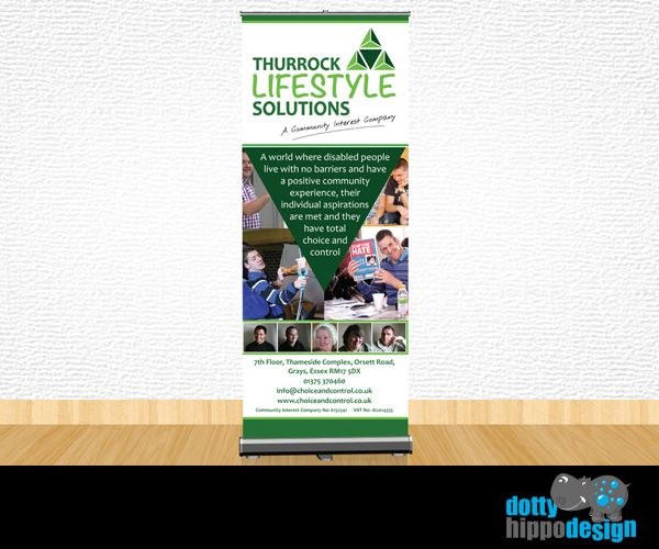 Roller banner design for Thurrock Lifestyle Solutions