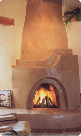 Shalako Kiva Fireplace Kit - Although not exclusive to the Southwest, Kiva (beehive or arched) fireplaces are a signature style commonplace throughout the southwestern United States.