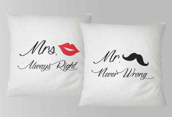 Couple Pillows, Pillow 16x16, Printed pillows! Mr. & Mrs.! Home decor, Anniversary gift, Gift for Wife, Gift for Husband
