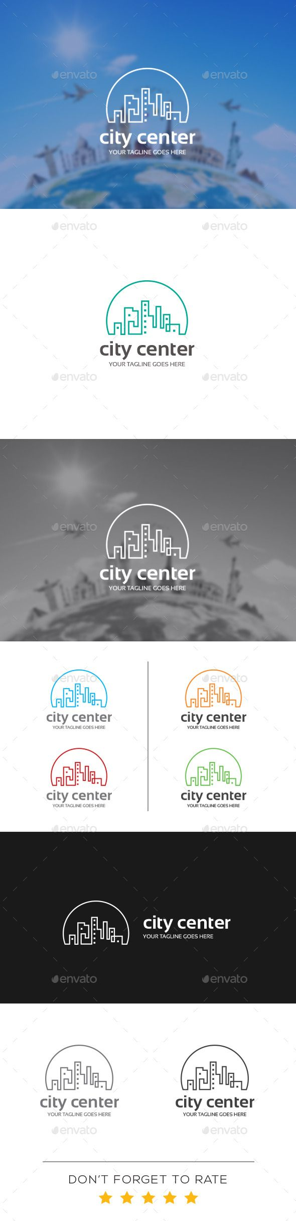 City Center Logo Tempalte #design #logotype Download: http://graphicriver.net/item/city-center-logo-template/10939346?ref=ksioks