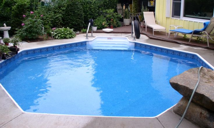 16' octagon inground swimming pool perfect for small yard