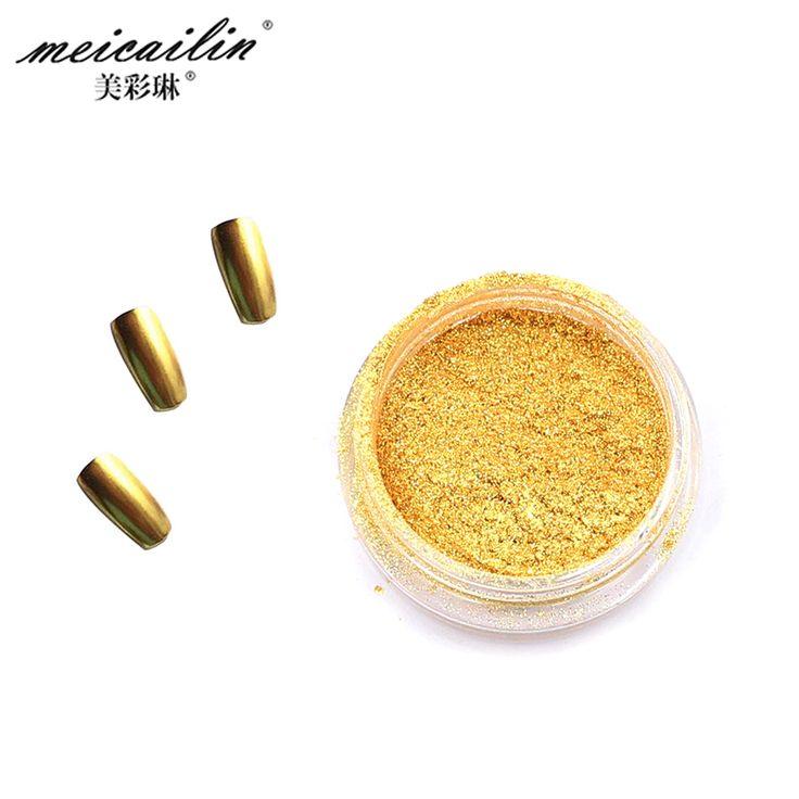 Top Sale 1g Gold Sliver Nail Glitter Powder Shinning Mirror Nails Glitter Powder Dust Nails Art DIY Chrome Pigment Nail Glitters [Affiliate]