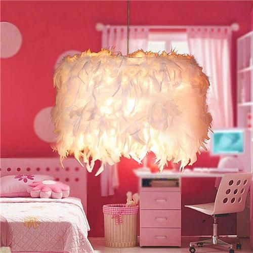 Pendant Lamp Arylic Shade Modern Hand-made Art Style Creative Vantage Light Cover for Corridor Study Sitting Room -White