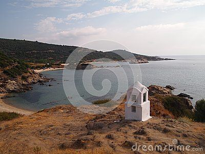 A shrine on a rock, Sarti, Greece