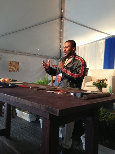 Quentin Middleton, artisan knife-maker, discusses his work at the SFA Culinary Hub at the 2013 Charleston Wine + Food Festival.