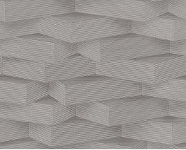 Tapeta 9600-03 Szare Wzory 3D