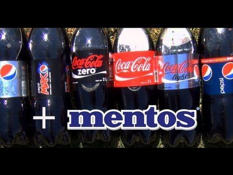 Bellagio fountains diet coke mentos