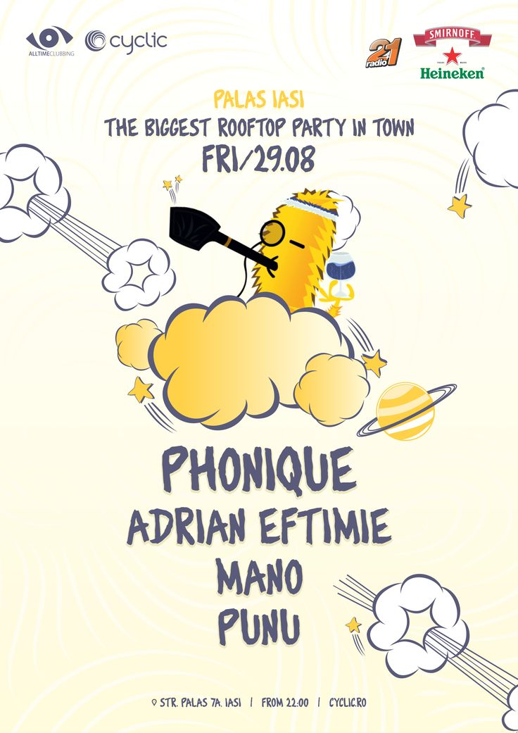 The Biggest Rooftop Party in Town Iasi - first edition.