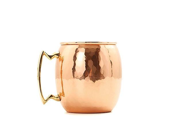 S/2 Hammered Copper Mule Mugs, 16 Oz on OneKingsLane.com