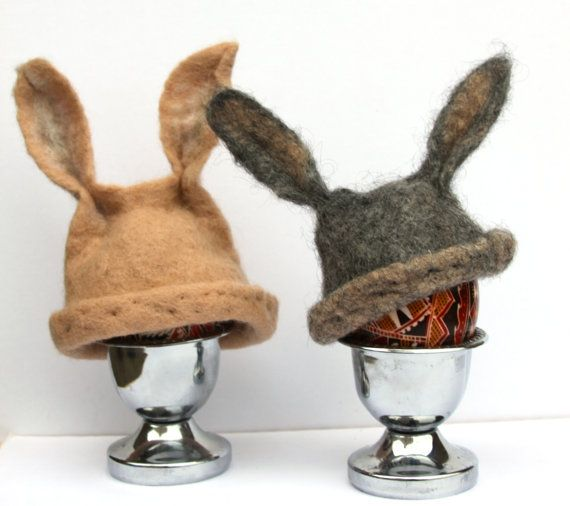 Easter bunny hat, 2 egg warmers, egg cozy, Easter busket, egg hunt, Ester decor.