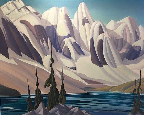 Ken Harrison - Changing Seasons Moraine 36 x 48 Oil on canvas