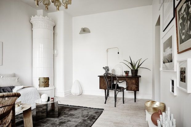 my scandinavian home: A serene small space apartment in Sweden