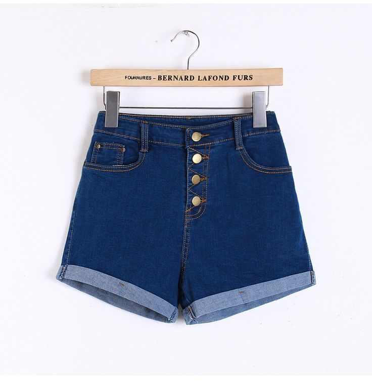 2017 Korean fashion wild waist stretch denim shorts female Slim thin large size women curling summer shorts jeans