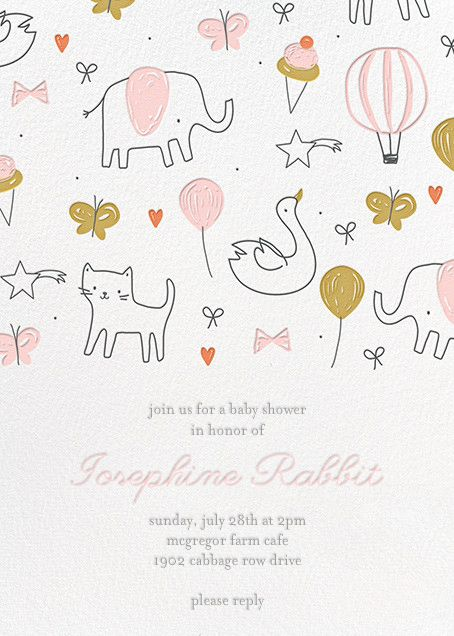Marvelous Balloon Parade By Little Cube For Paperless Post. Design Custom Baby Shower  Invitations With Easy