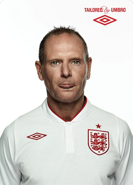 Paul Gascoigne: Football Icon and one of the Faces Of England by umbrofootball