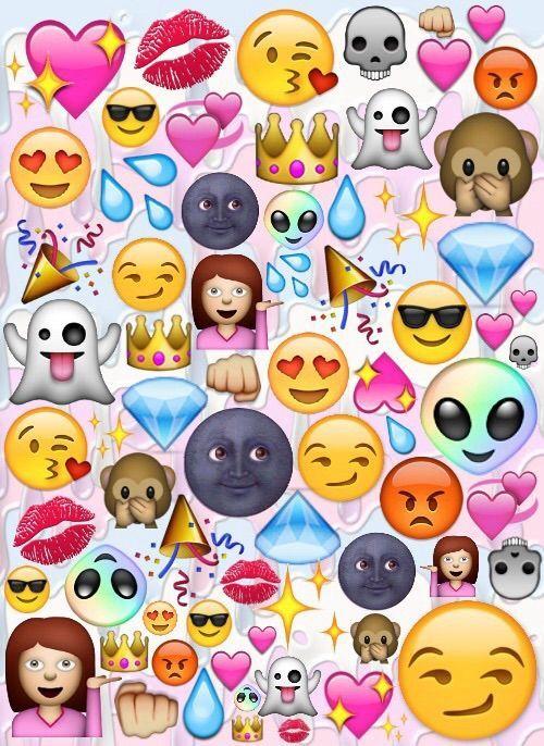 Resultado de imagen para fondos de pantallas de emojis enamorados