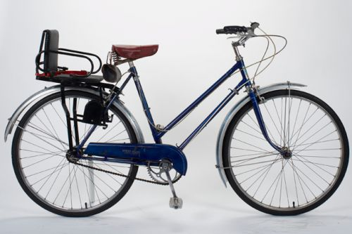 Vintage Raleigh Bicycle With Child Seat Bike Raleigh