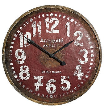 Attractive Large Wooden Wall Clock By Nordal