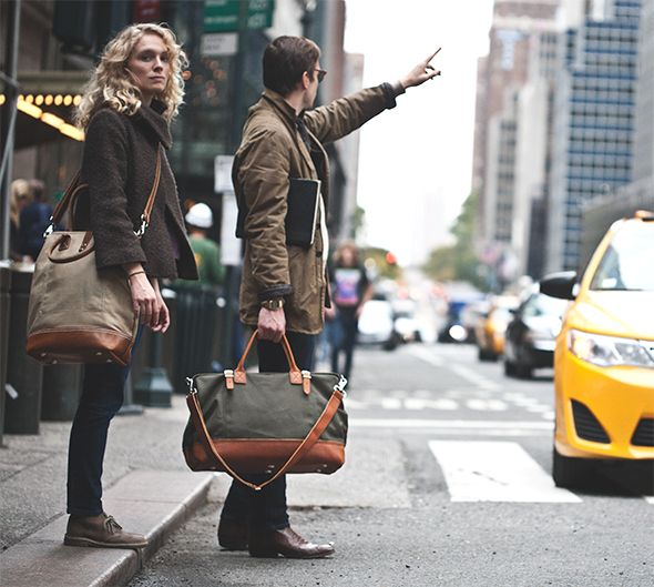 Any professional man that wants to state his style individuality along with packing prowess should look into this Kaufmann Mercantile travel bag.
