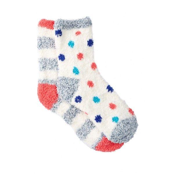 Free Press Pattern Fuzzy Socks - Pack of 2 ($7.97) ❤ liked on Polyvore featuring intimates, hosiery, socks, pink ballerina fun dots, ballet socks, knit socks, ballerina socks, polka dot socks and patterned socks