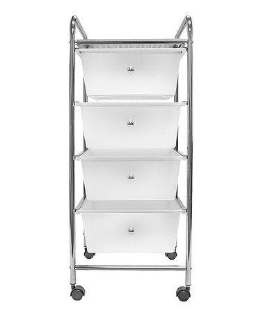 Look what I found on #zulily! Four-Drawer Rolling Storage Bin Cart #zulilyfinds