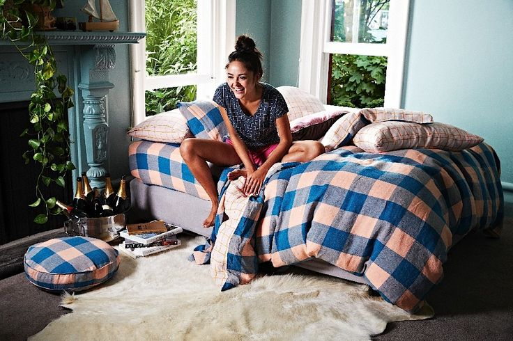 Kip & Co | AW15 Check Out / Sweet Tart Linen Quilt Cover
