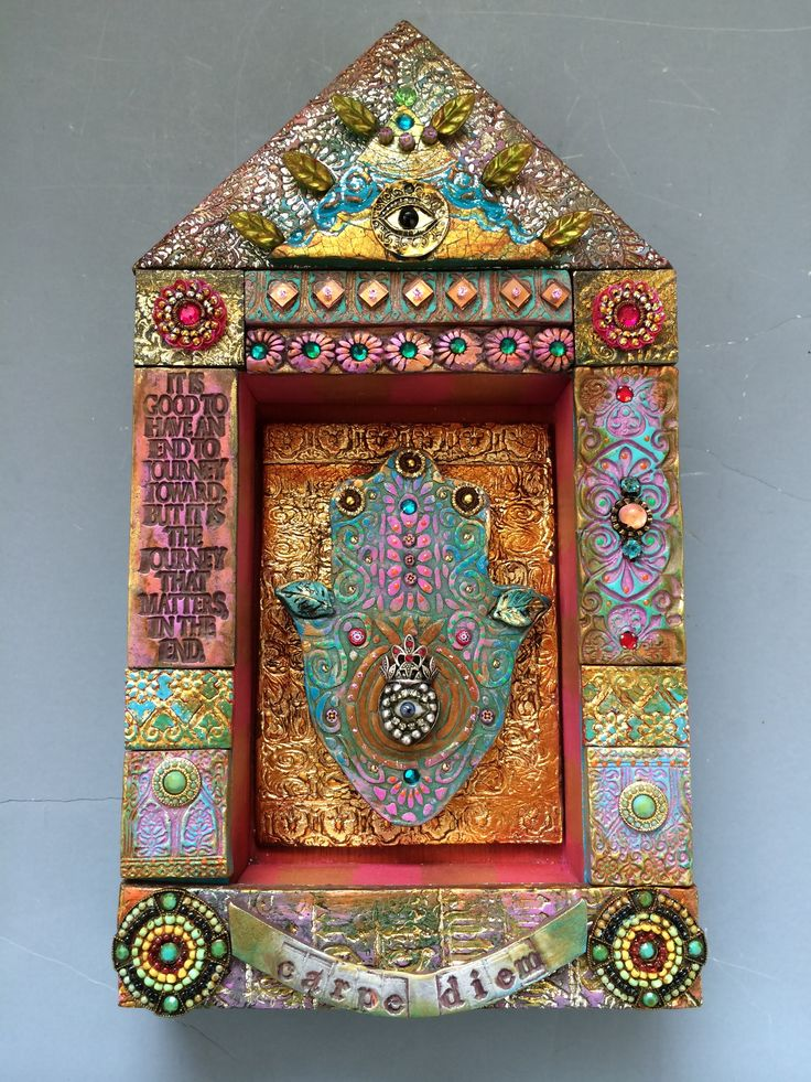 Laurie Mika-mixed media mosaic shrine