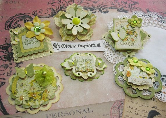Secret Garden Daisy Scrapbook Embellishments Paper Embellishments, Paper Flowers for Scrapbooking Layouts, Cards, Mini Albums Paper Crafts