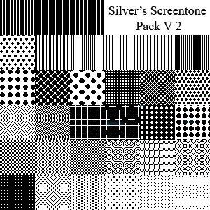 Silvers Screentone Pack V2 by ~silverwinglie on deviantART