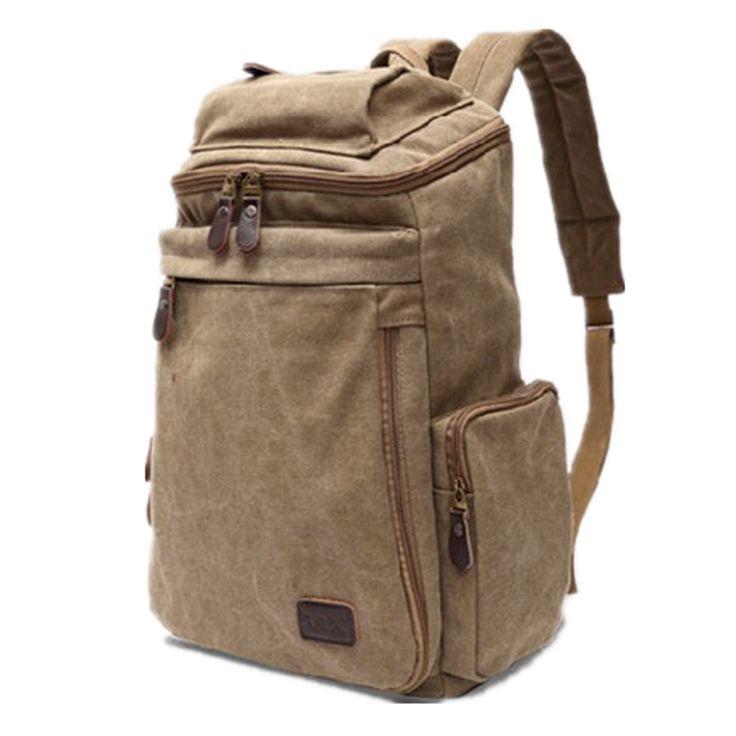 103.59$  Buy here - http://vingt.justgood.pw/vig/item.php?t=8ogvwfp40367 - male casual canvas backpack middle school students school bag men travel bag lar
