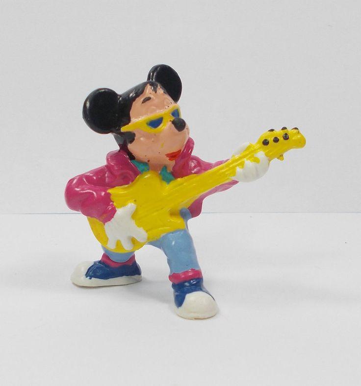 (2) Mickey Mouse - Mini Toy Figure - Disney - Cake Topper - Bullyland