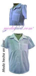 Descarga los patrones gratis para confeccionar la blusa escolar
