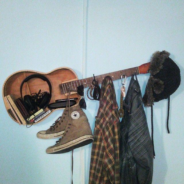 Guitar shelf and hanger