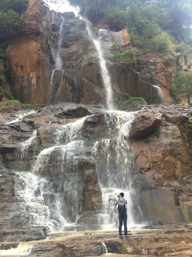 Batu Templek Waterfall  Bandung, Indonesia