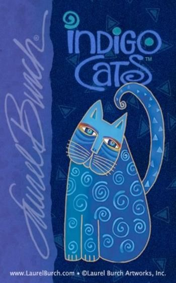 Indigo Cats.  Laurel Burch  Indigo- Pantone's colour of the year for 2013!